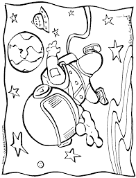 astronaut more free printable space aliens coloring pages
