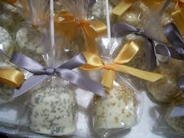 silver and gold marshmallow pops baby shower