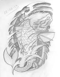tattoo design koi dragon tattoo sketch a day sealife june 22nd 30th