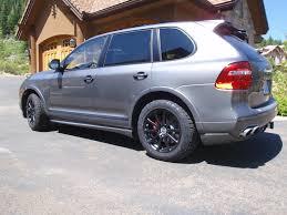 porsche cayenne s tires black porsche cayenne upgraded to 255 55r18 nitto terra grappler