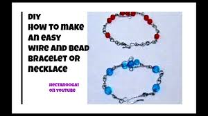 beaded bracelet make necklace images Diy easy wire and bead bracelet or necklace jewelry making jpg