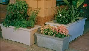 Concrete Rectangular Planter by Concrete Landscape Planters Outdoor Concrete Planters Phoenix