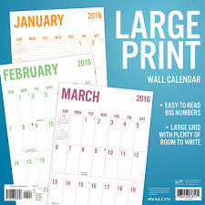 large blank calendar