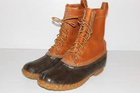 ll bean s boots size 12 ll bean leather shank rubber bean boots size 12 made in