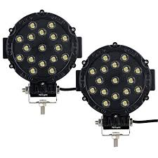 round led lights for jeep nilight 2pcs 51w 7 spot round bar bumper led lights for suv jeep