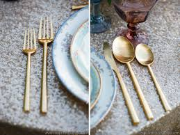 gold flatware rental colorful classic shoot on borrowed and blue ultrapom wedding