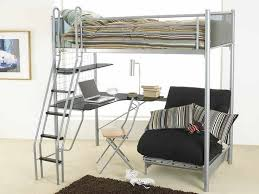 Best  Bunk Bed With Futon Ideas On Pinterest Elevated Desk - Metal bunk bed with desk