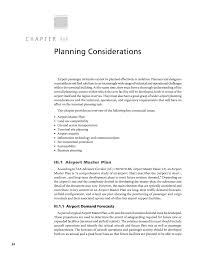 chapter iii planning considerations airport passenger terminal