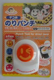 cute japanese winking smiley face seaweed nori punch tool cutter