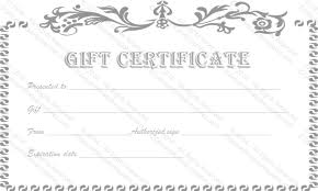 make your own gift card vintage flower gift certificate template
