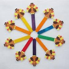 popsicle stick turkey craft funnycrafts