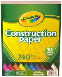 amazon com crayola construction paper 480 count 2 packs of 240
