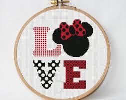disney cross stitch etsy