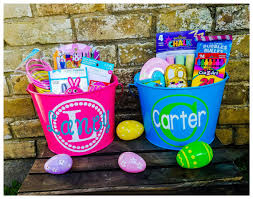 personalized easter buckets personalized easter basket easter kid s
