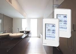 bathroom underfloor heating thermostat intelligent thermostats for electric floor heating eboss