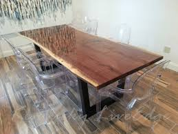 Custom Made Dining Room Furniture Interesting Made To Order Live Edge Dining Table Custom Modern