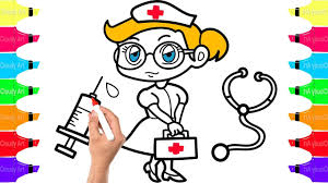 how to draw the nurse doctor coloring pages medical doctor kit