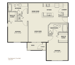 Two Bedroom Floor Plan by Unique Floor Plans For Our Lady Lake Fl Apartments
