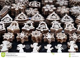wooden christmas ornaments prague editorial photo image 54533976