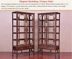 Mahogany Display Cabinets With Glass Doors by Elegant Chinese Style Precious Mahogany Modern Wine Display