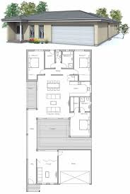 Narrow House Plans With Garage Collection Modern Narrow House Plans Photos Free Home Designs