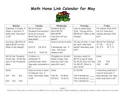 calendar math for third grade grade 2 everyday math home link