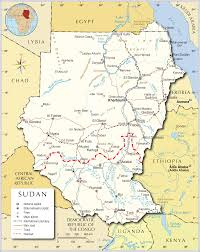 Africa Countries Map by Map Of Sudan Sudan Political Map Sudan Travel Map