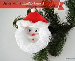 how to make a santa with a fluffy beard ornament