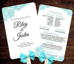 wedding fan program 17 best diy wedding fan programs folded programs images on