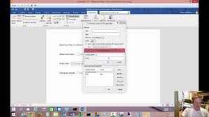 how to create fillable forms in microsoft word 2016 youtube