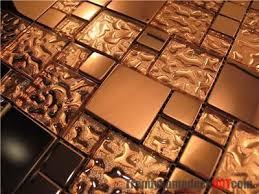 copper kitchen backsplash tiles metal mosaic tile backsplash buy glass mixed stainless