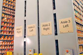 standard mobile shelving archival high density storage