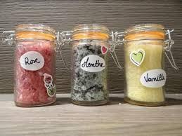 composition du sel de cuisine de sels du bain pour se faire du bain menthe vanille