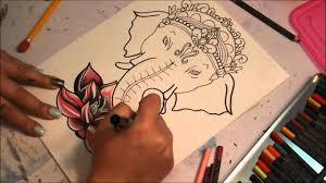 ganesh u0026 lotus flower tattoo design youtube