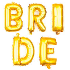 amazon com non floating bride letter balloons bridal shower