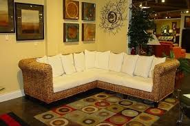 Seagrass Sectional Sofa Incredibly Durable Eco Friendly Woven Seagrass Sectional With