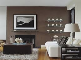 brown accent walls living room home