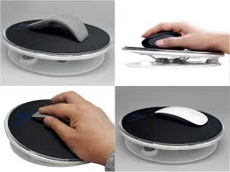 neody magnet raised wrist support air rest mouse pad for computer