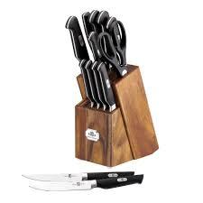 ginsu kitchen knives paula deen signature cutlery 14 knife set 51484 the home depot
