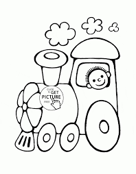 cartoon train picture coloring vector of a cartoon steam engine