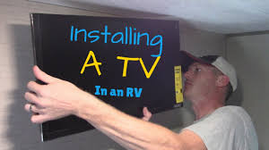 Tv Wall Mount For Rv Rv Tv Install Youtube