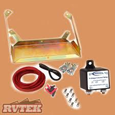 dual battery system kit inc tray u0026 wiring suit 90 series toyota