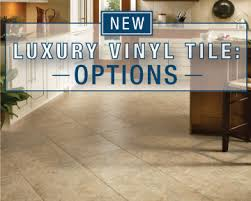 luxury vinyl tile gives the look of ceramic and the ease of