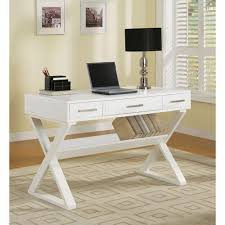 48 Desk With Hutch by Table Desk With Cross Legs White