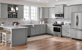 kitchen cabinets gray bottom white top best kitchen cabinets for your home the home depot