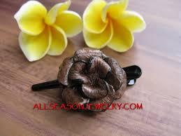 hair slide leather hair slide bali leather hair fashion accessories