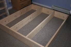 Platform Bed Diy Plans by How To Build A Queen Size Platform Bed Frame With Storage The