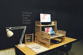 Standing Desk On Top Of Existing Desk Convert Any Desk Into Stand Up Workstation With This Affordable
