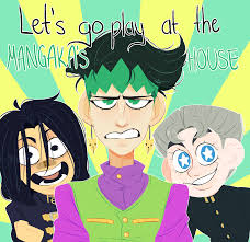 gif jjba let u0027s go play at the mangaka u0027s house by ghiaccioo on
