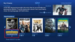 sky help download programmes in hd or sd automatically with multi